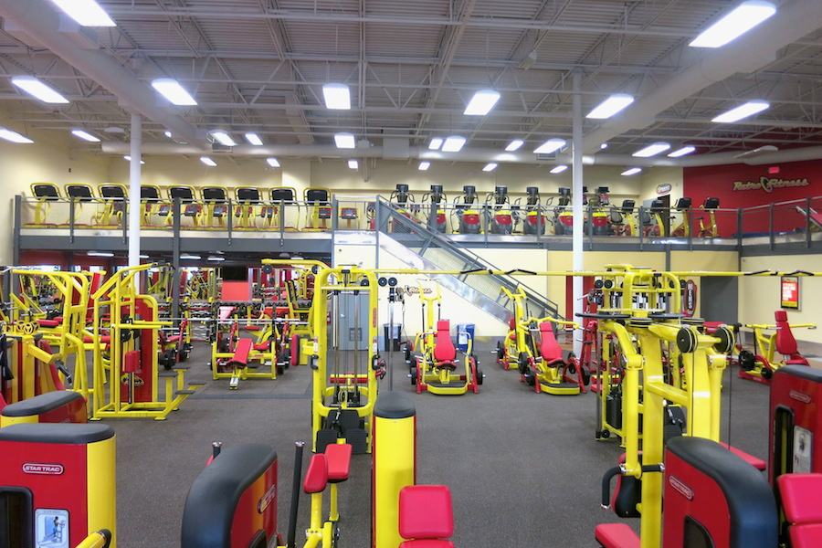 Retro Fitness Franchises Use Mezzanines to Make Room For Additional ...